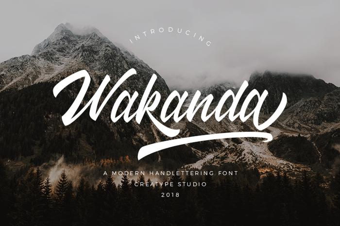 Wakanda Font poster