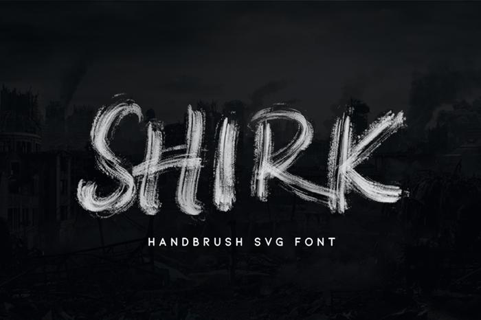 SHIRK Font poster