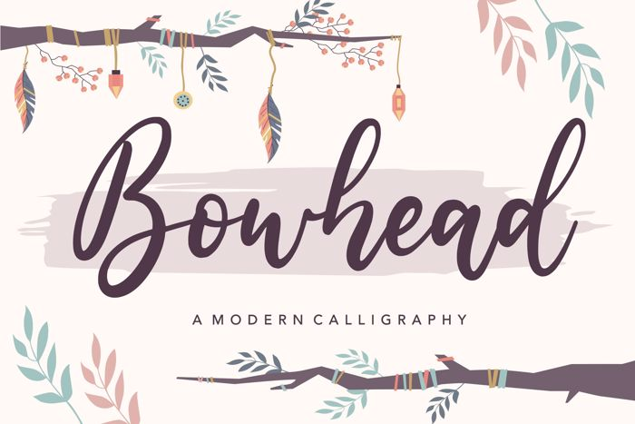 Bowhead Font poster