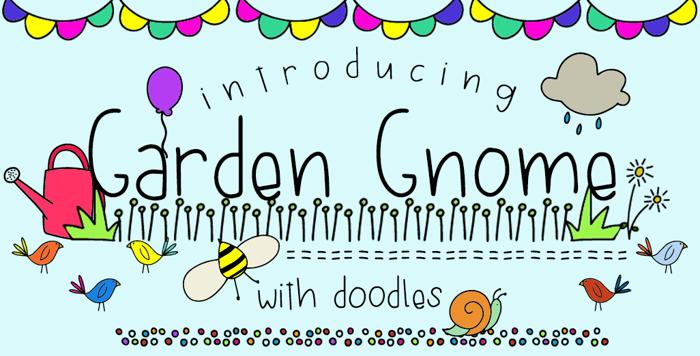 GJ-Garden Gnome Doodles Font poster