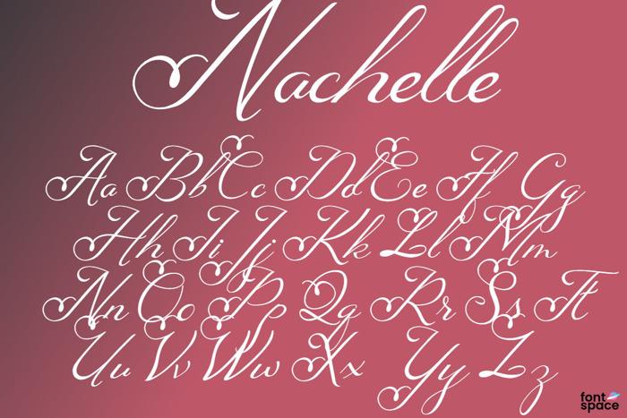 Nachelle Font poster