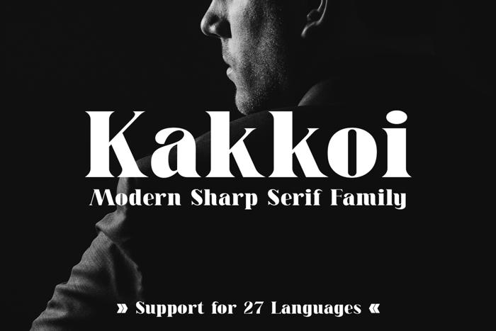 Kakkoi Font poster