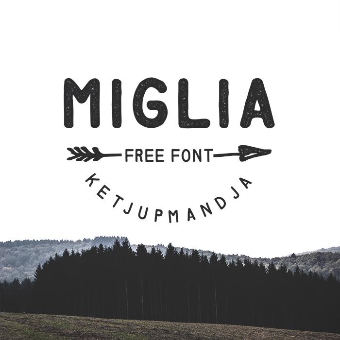 Miglia Font poster