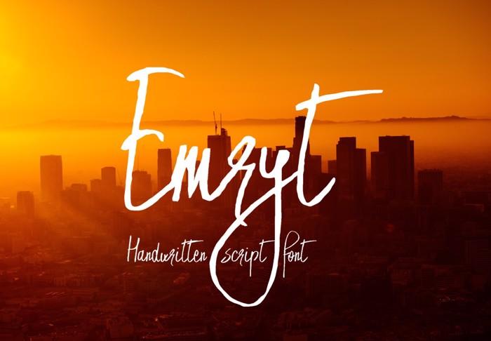 Emryt Font poster