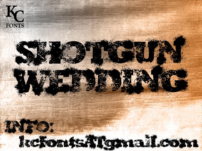 Shotgun Wedding Font poster