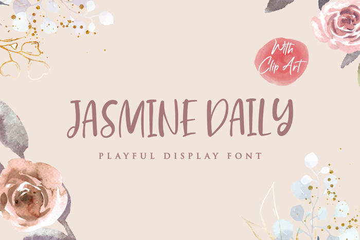 Jasmine Daily Font poster