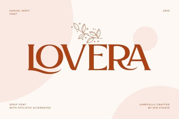 Lovera Font poster