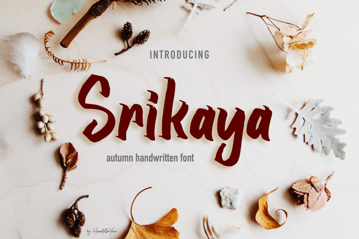 Srikaya Font poster