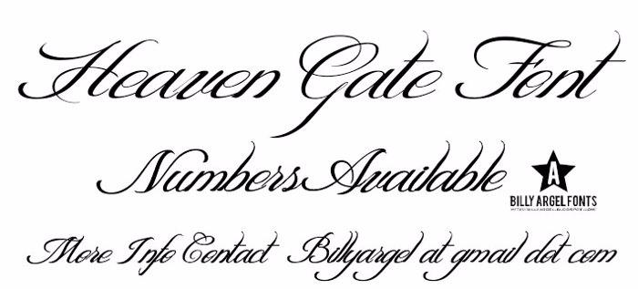 HEAVEN GATE Font poster