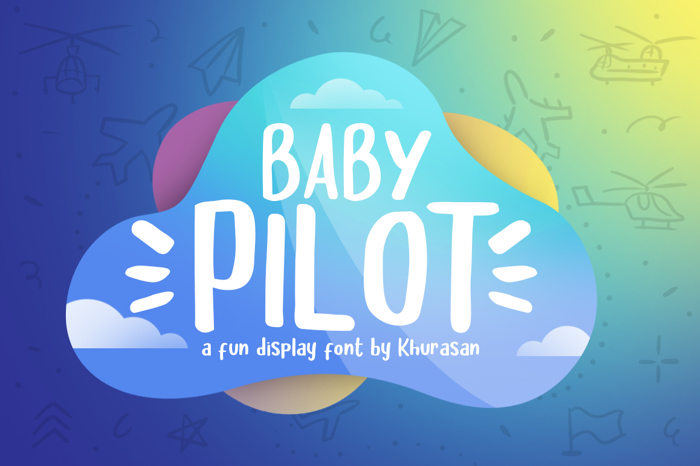 Baby Pilot Font poster