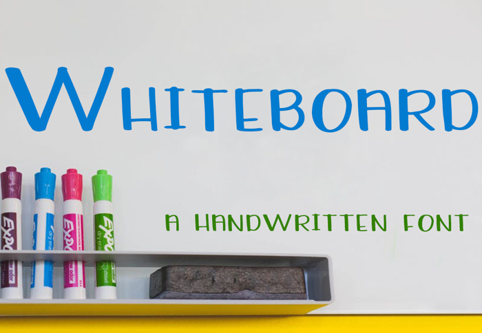 Whiteboard Font poster