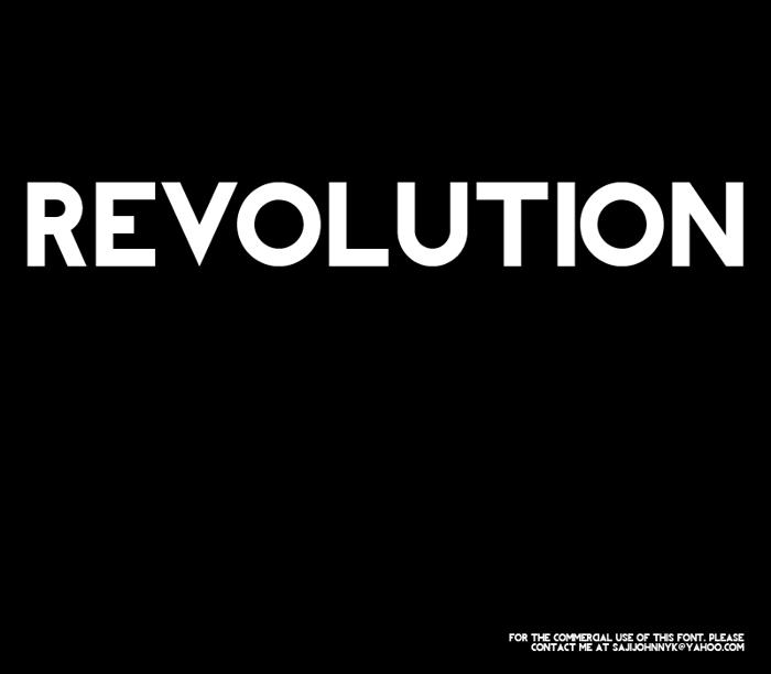 REVOLUTION Font poster