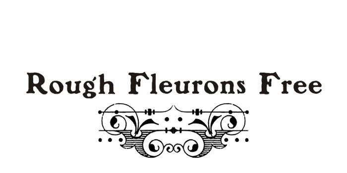 Rough Fleurons Free Font poster