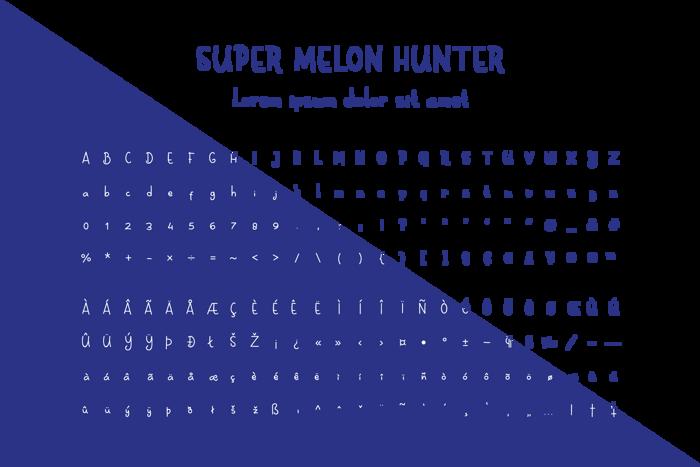 Super Melon Hunter Font poster