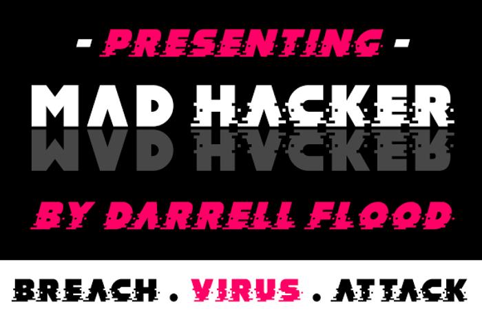 MAD hacker Font poster
