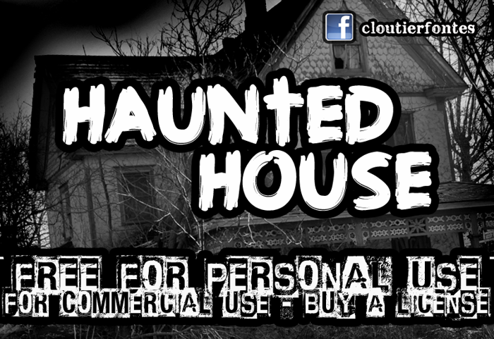 CF Haunted House Font poster