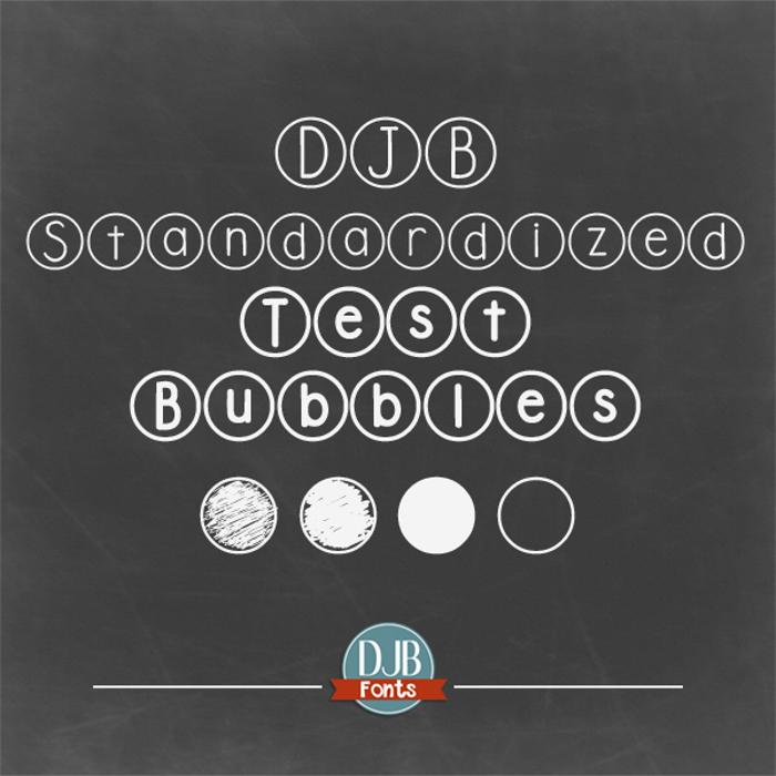 DJB Standardized Test Font poster