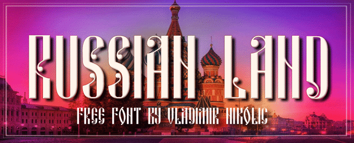 Russian Land Font poster