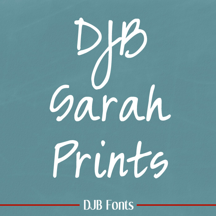 DJB Sarah prints Font poster