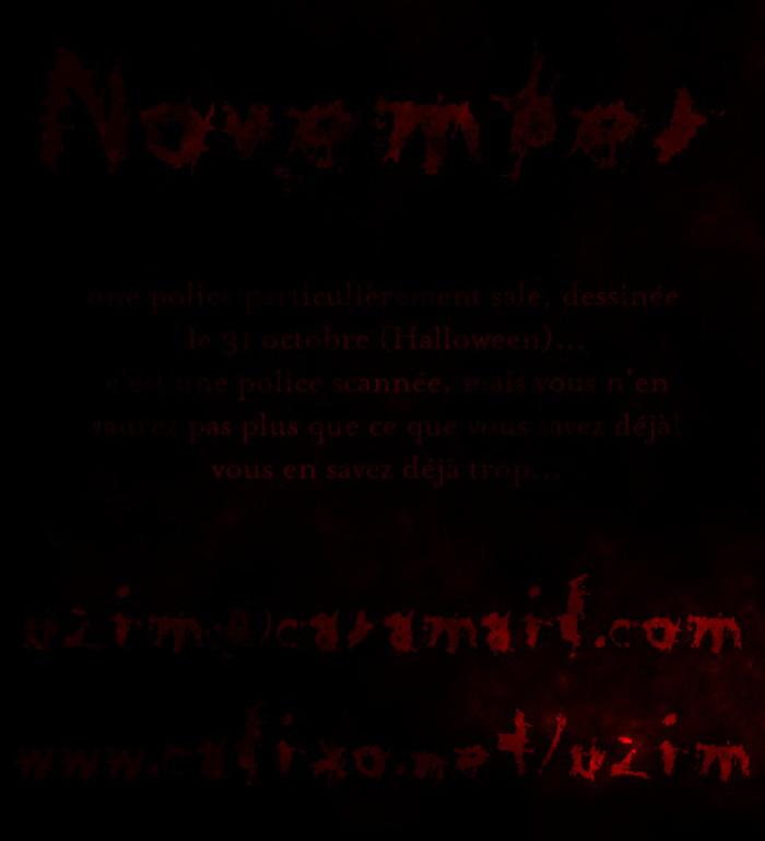 November Font poster