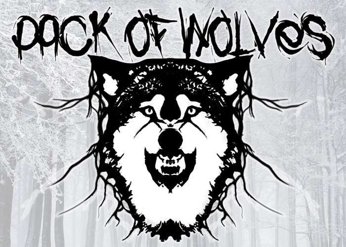 Pack of Wolves Font poster