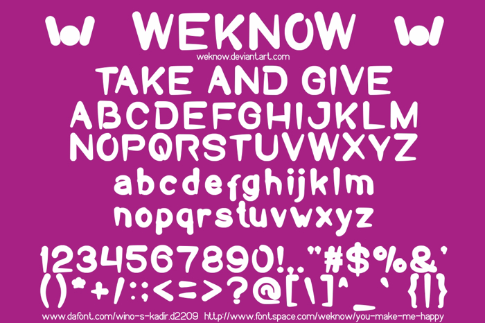 Take And Give Font poster