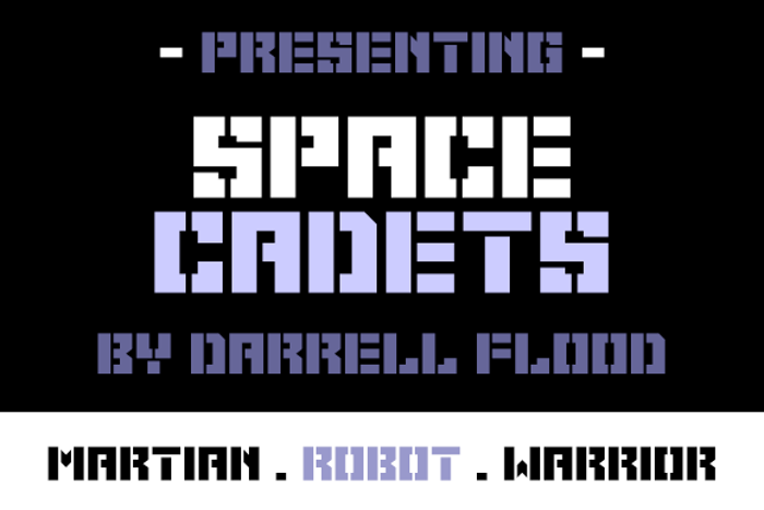 Space Cadets Font poster