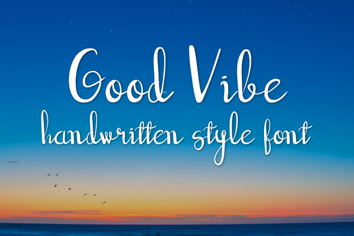 good vibe Font poster