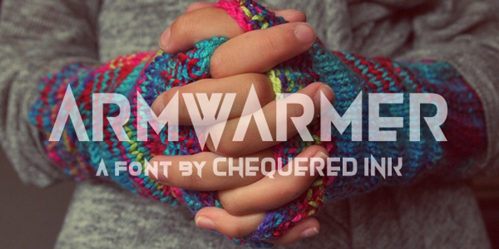 Armwarmer Font poster