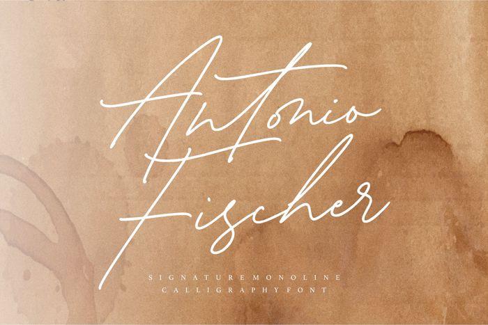 Antonio Fischer Font poster