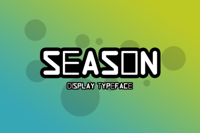 Season Font poster