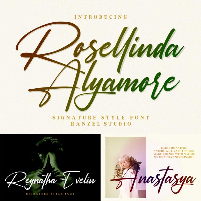 Rosellinda Alyamore Font poster