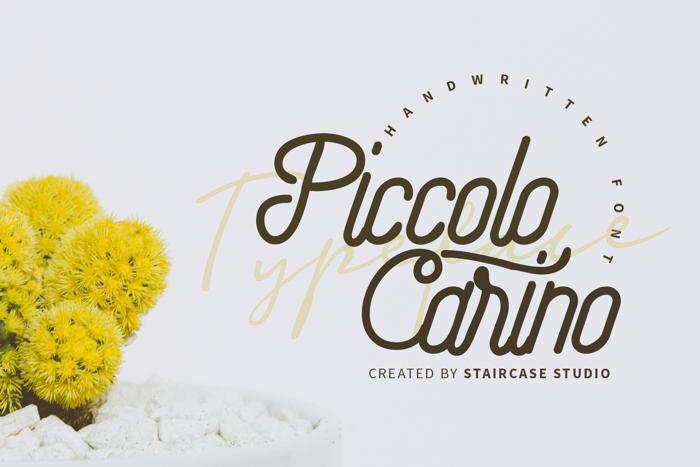 Piccolo Carino Font poster