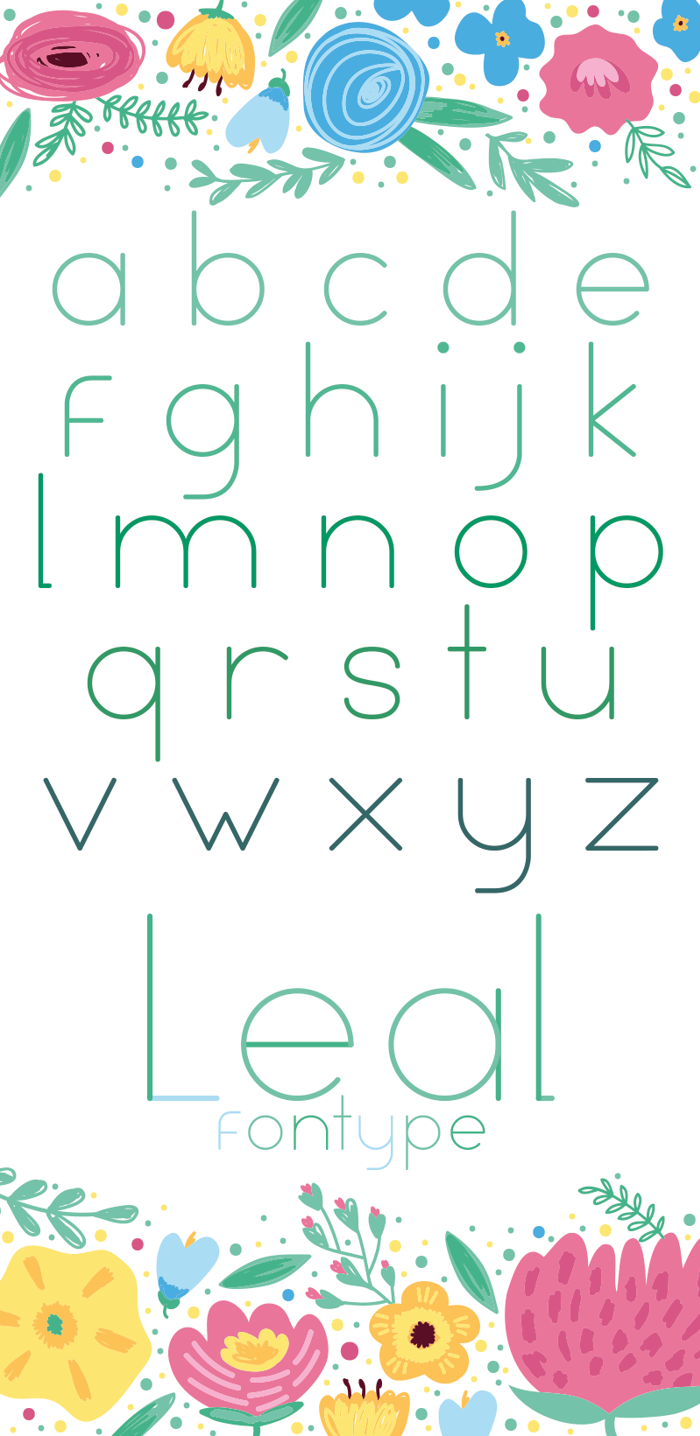Leal Font poster