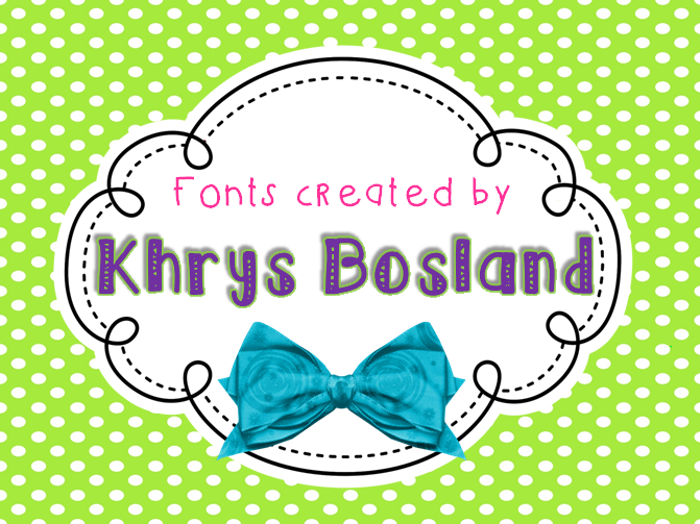 KBSeriouslyIntoHer Font poster