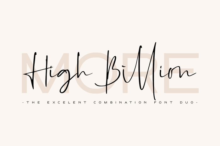 High Billion Font poster