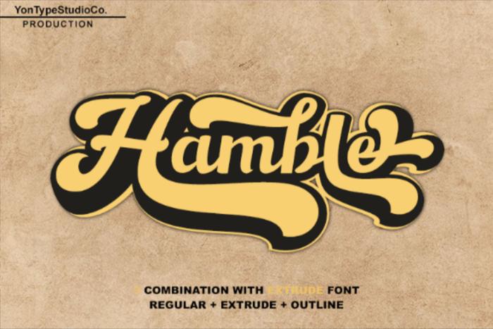 Hamble Font poster