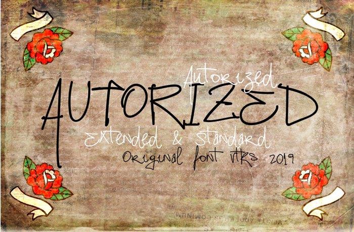 Vtks Autorized 2 Font poster