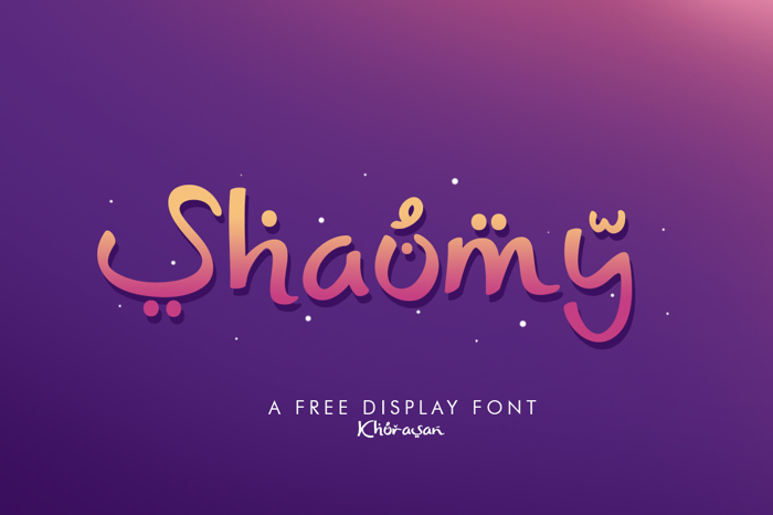 Shaumy Font poster