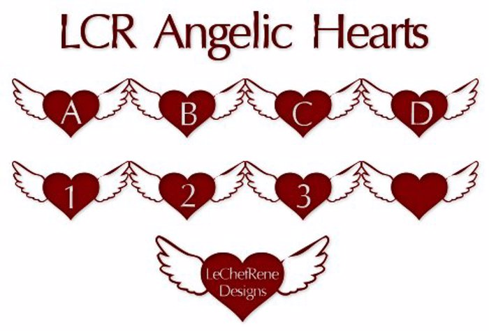 LCR Angelic Hearts Font poster