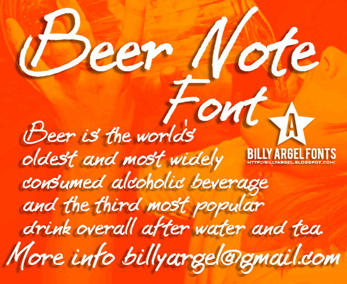 BEER NOTE  Font poster