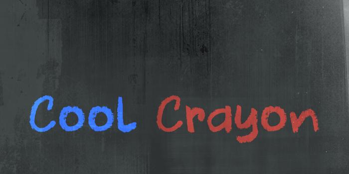 DK Cool Crayon Font poster