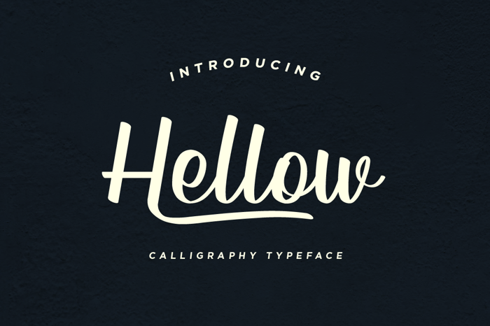 Hellow DEMO Font poster