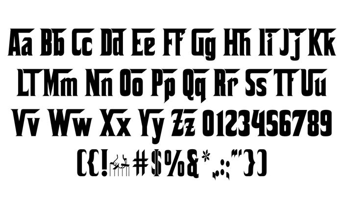 Corleone Font poster