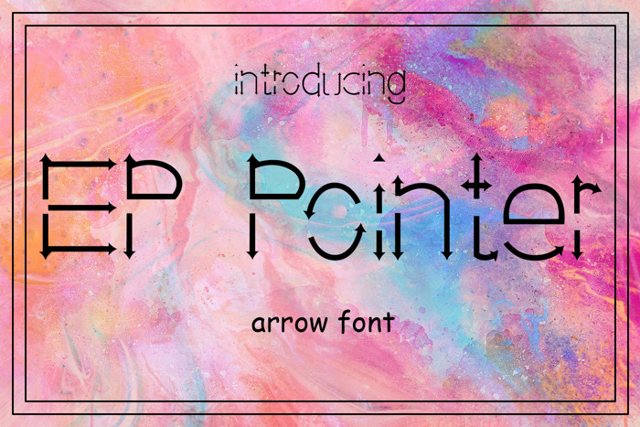 EP Pointer Font poster