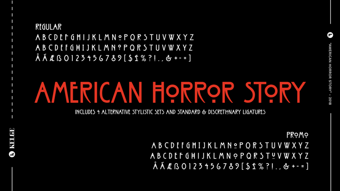 American Horror Story Font poster