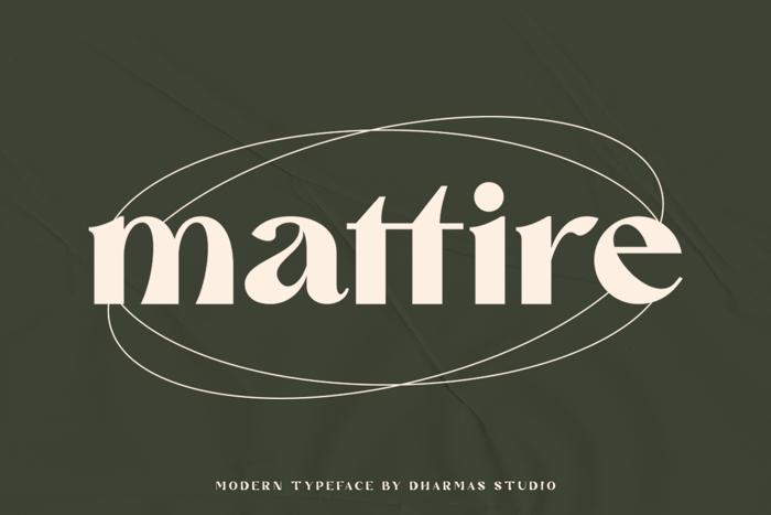 Mattire Font poster