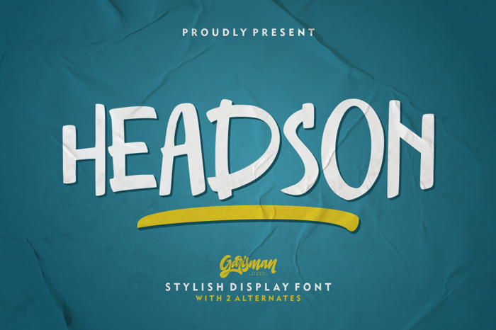 Headson Font poster