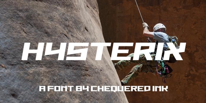Hysterix Font poster