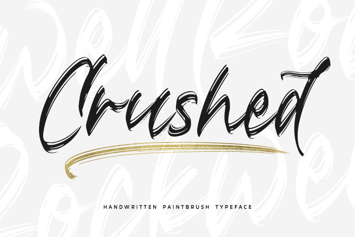 Crushed Font poster